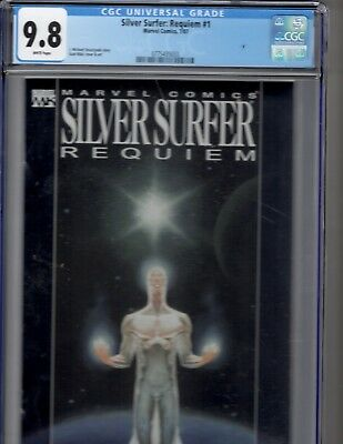 Marvel KEY: Silver Surfer: Requiem#1 CGC 9.8 WHITE PAGES!  PERFECT!
