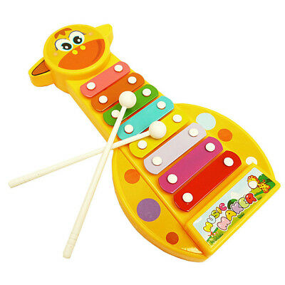 Giraffe Xylophone Baby Musical Toy Instrument Piano with 8 Colored Key For Kids