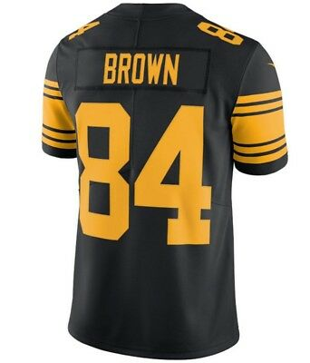 8beabe580ad ... real antonio brown pittsburgh steelers 84 color rush jersey dmr patch  any size eea3e 34ed7