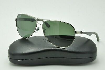 44f87285ce Ray Ban RB 8313 Sunglasses 004 N5 Gunmetal Frames   Green Polarized Lenses  61mm