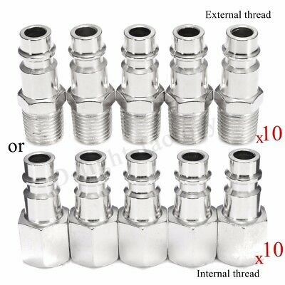 10x Euro Air Line Hose Fitting Connector Male/Female Quick Coupler 1/4BSP