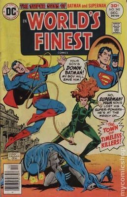 World's Finest #242 1976 VG- 3.5 Stock Image Low Grade