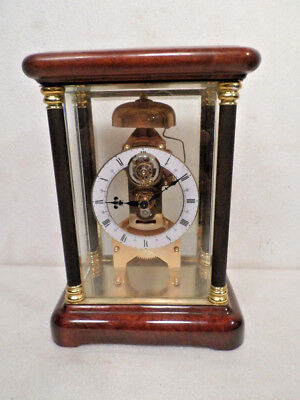1890 French Style Wood/Glass Tourbillon Crystal Regulator With Passing Strike