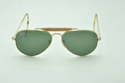 c0ce31d867 Ray Ban RB 3030 Aviator OUTDOORSMAN L0216 Sunglasses Gold   Green Lenses  58mm
