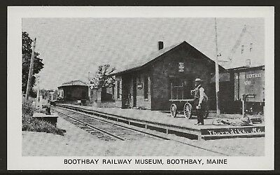 Thorndike Railroad Station Reproduction at Boothbay Railway Museum 1970's UNUSED