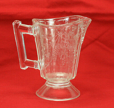1870 Early American Pattern Glass Bryce Brothers Wheat And Barley Cream Pitcher