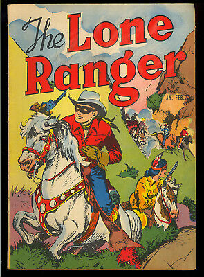 Lone Ranger #1 Nice First Issue Golden Age Dell Western Comic 1948 VG+