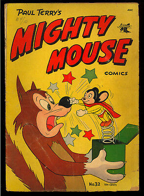 Mighty Mouse Comics #32 Nice Golden Age Paul Terry's St. John 1952 GD-VG