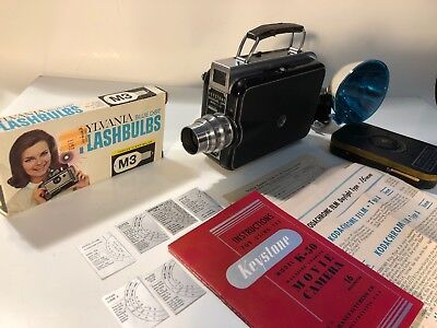 Vintage Keytsone Magazine-16mm Model K-50 Movie Camera made in U.S.A | Untested