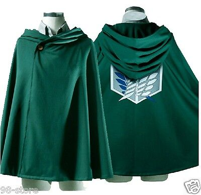 Lot of 2 pcs Anime Shingeki no Kyojin Cloak Cape clothes cosplay Attack on Titan