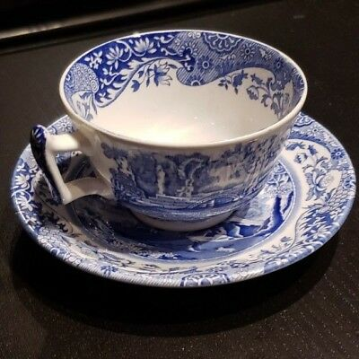 Spode Blue Italian TEA CUP and SAUCER -  English China