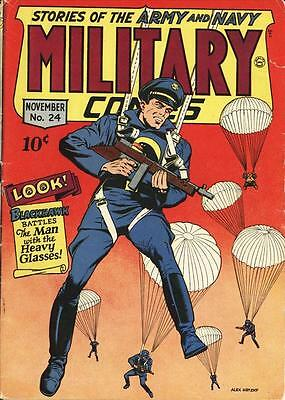 Military Comics #24 Photocopy Comic Book, Blackhawk, The Sniper