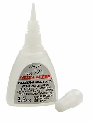Aron Alpha Type 221 (2 cps viscosity) Fast Set Instant Adhesive 20 g (0.7 oz) Bo