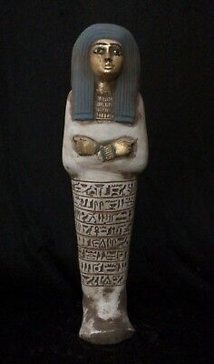 Egyptian Antiques Statue Egypt Hieroglyph Shabti and Ushabti Carved Stone BC