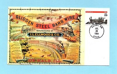 U.s. Fdc #2846 Ely's No. 10 From The Locomotives Set