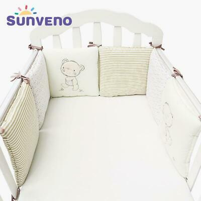 Comfortable Baby Bed Bumper Cartoon Bumpers For Baby Bed Crib Cotton Infant B...