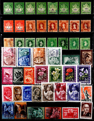 Hungary: 1940's To 50's Stamp Collection