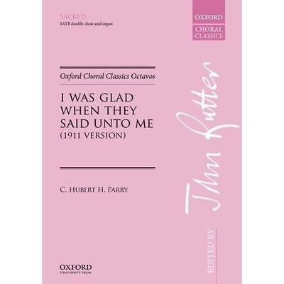 I was glad when they said unto me - Sheet music NEW Parry, C. Huber 24/08/2017