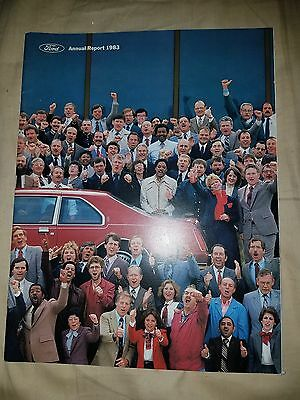1983 FORD MOTOR  ANNUAL REPORT Thunderbird Mustang Ranger F150  Bronco II 83
