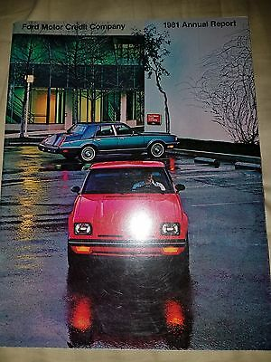 1981 FORD MOTOR CREDIT ANNUAL REPORT Thunderbird Mustang  F100 Cougar LTD 81