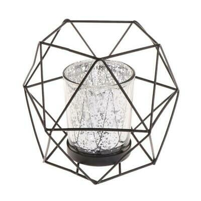 Nordic Style 3D Geometric Candlestick Metal Lightweight Candle Holder Wedding...