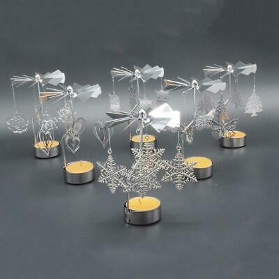 Romantic Rotary Spinning Candlestick Tealight Candle Holder Metal Tea Light H...