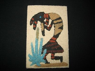 Navajo Native American Lena T. Moore Flute Player Sand Art Magnet