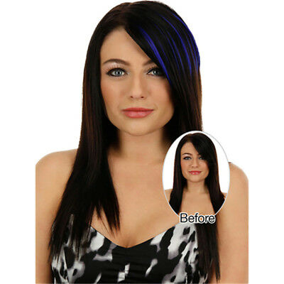 Synthetic Straight Incline Bangs Fake Fringe Hair Piece Clip In Hair Extension Z