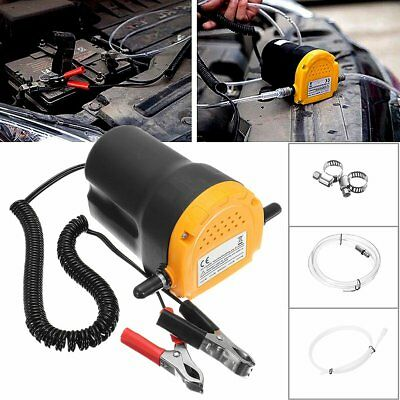 12V 60w Engine Oil Fluid Extractor Transfer Pump Electric Car Motorbike SS