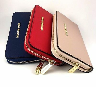 Michael Kors Jet Set Travel Large Three Quarter Zip Wallet