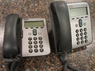 Lot 2x Cisco SIP VoIP IP Telephone Phone CP 7906 and 7912G with Handset