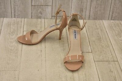 b3433ba5374 STEVE MADDEN SILLY Patent Leather Ankle Strap Sandals