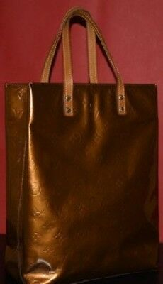 LOUIS VUITTON   SAC A MAIN EN CUIR MONOGRAM VERNIS doré   bronze N° TH1001 4c46512b8e2