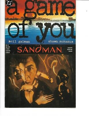 Sandman #32-34 (a game of you, parts 1-3 of 6) 1991, DC