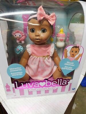 Luvabella-Brunette Hair- Responsive Baby Doll w/Realistic Expressions & Movement