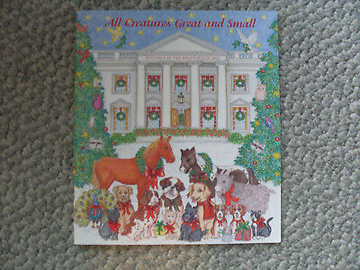 White House Collectible Christmas book 2002 G. W. Bush All Creatures Great Small