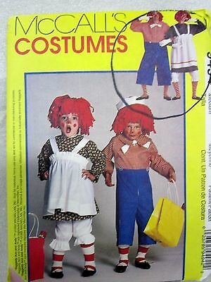 McCall's COSTUMES Sewing Pattern #9494 RAGGEDY ANN & ANDY Sz 36-38 UNCUT