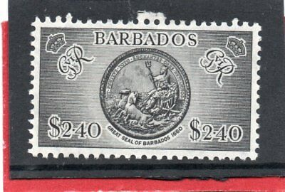 Barbados GV1 1950 $2.40 black, sg 282 VLH.Mint