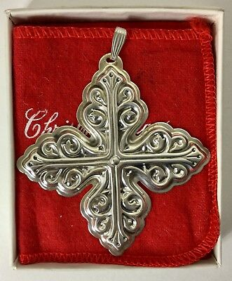 Reed Barton Limited Edition Sterling Silver 1978 Christmas Cross Ornament