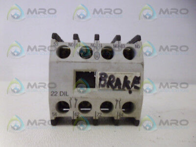 Moeller 22Dil Contact Block *used*