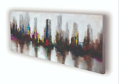 """Metropolis"" Cityscape Abstract Oil Hand Painted Canvas Wall Art Decor Room Home"