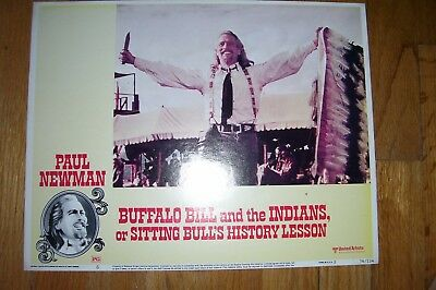 """""""Buffalo Bill and the Indians"""" (1976) original 11x14 lobby card with Paul Newman"""