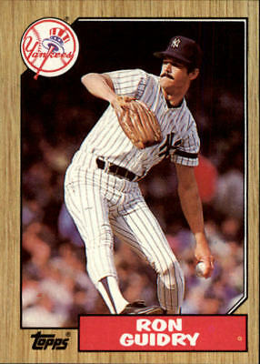 1987 Topps New York Yankees Baseball Card #375 Ron Guidry