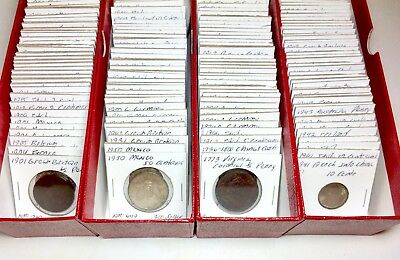 1800s-1900s World Lot of 150 Carded Coins with Silver, many BU-AU LOT#3
