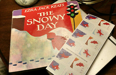 The Snowy Day Book plus USPS Forever Stamps Book of 20 New