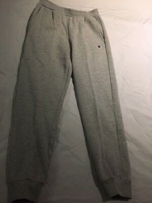 Girls Champion light grey sweatpant/joggers embroidered logo size M Ages 8-9-10