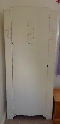 Vintage  Single Wardrobe Mahogany  20 Th Century Painted Shabby Chic