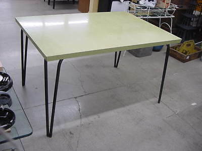 Rare Vintage Jefferson Co Dining Table W/ Leaf & Metal Hair Pin Legs No Chairs
