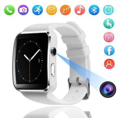 Waterproof Bluetooth Smart Watch Phone Mate For iPhone IOS Android White/Black