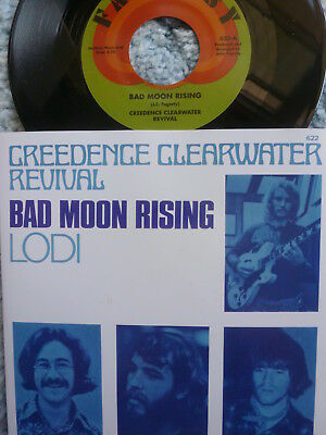 "CREEDENCE CLEARWATER REVIVAL CCR 45 RPM 7"" - Bad Moon Rising"